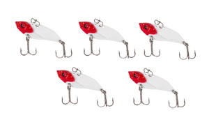 Metal Blade Hard Rattling Vibration Fishing Lures with Treble Hooks