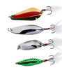 5-60 Gram Colorful Fishing Spoon Lure Treble Feather Hook Spinner Baits