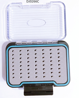 Two-Sided Waterproof Plastic Fly Fishing Box Fishing Gear