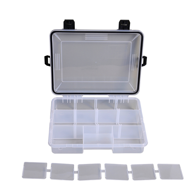 Waterproof Built-in Compartment Plastic Lid Fishing Tackle Box